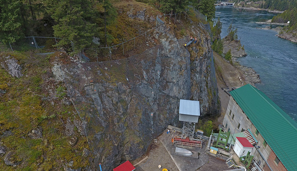 Nelson Hydro Slope Meshing and Drone Inspection